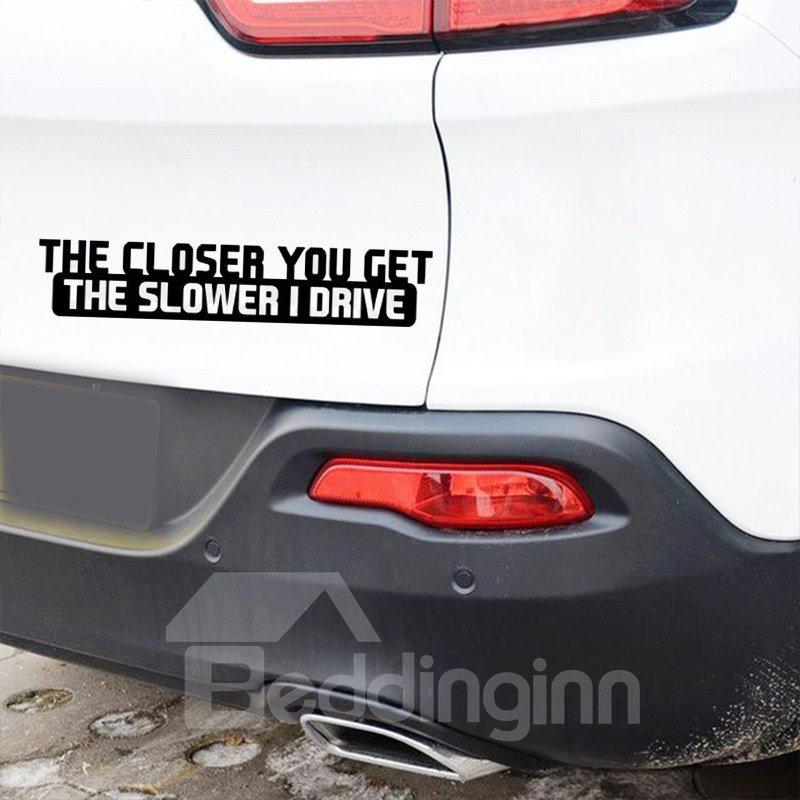 Waterproof Scratch Resistant Cool Letter Pattern Car Sticker
