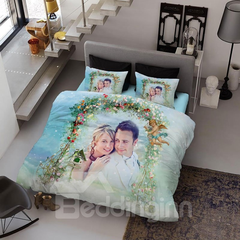 Pictures Personal Customized 3D Printing Cotton 4-Piece Bedding Sets/Duvet Covers