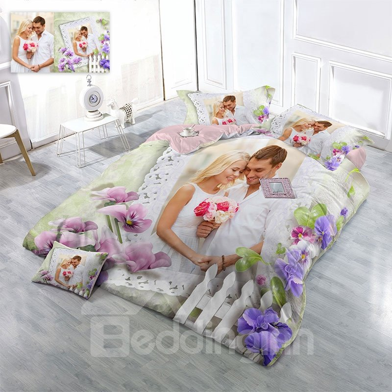 Personalized D Printing Cotton Bedding Sets Duvet Covers Made