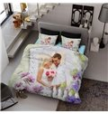 Custom Made Personalized 3D Printing Cotton 4-Piece Bedding Sets/Duvet Covers