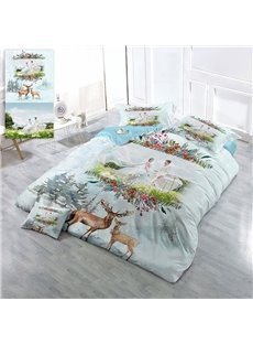 Custom Personal Picture 3D Printing Cotton 4-Piece Bedding Sets/Duvet Covers