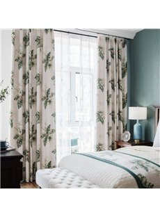 Green Plant Pattern Scindapsus Aureus Size Customization Curtain