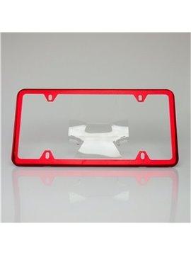 Multicolor Aluminium Alloy Material American Standard License Plate Frame