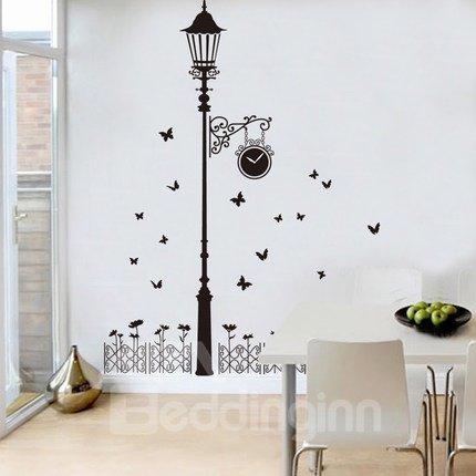 Creative Street Lamp Pattern Bedroom Corridor Waterproof Wall Sticker