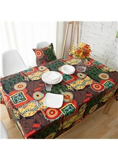 Exotic Style Cotton Waterproof Anti-Fouling Tablecloth Set