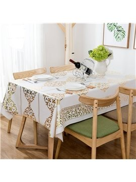 Nostalgia Style PVC Anti-Fouling Rectangle Printing Tablecloth