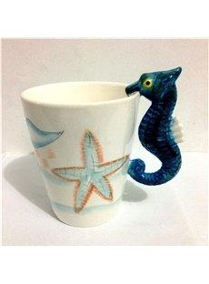 Sea Horse Ceramic Cartoon Modern Style Tea Cup