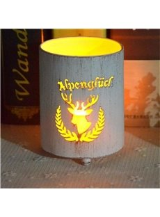 Iron Elk Classic Style Cylinder Type Candles Holder