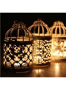 Iron Manual Technics Bird Cage Simple Style Candles Holder