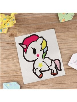 Cute Irisated Unicorn Pattern Waterproof Scratch Proof Car Sticker