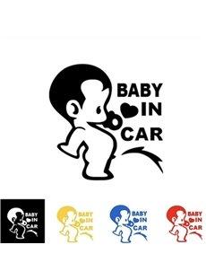 Baby In Car Pattern Waterproof Scratch Proof Car Sticker