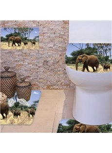 Personalized Three Piece Flannel PVC Soft Water-Absorption Anti-slid Toilet Seat Covers