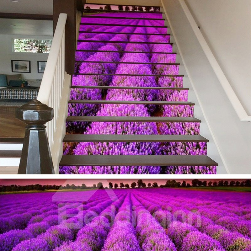 Personalized Printed PVC Waterproof and Sturdy Self-Adhesive Stair Murals
