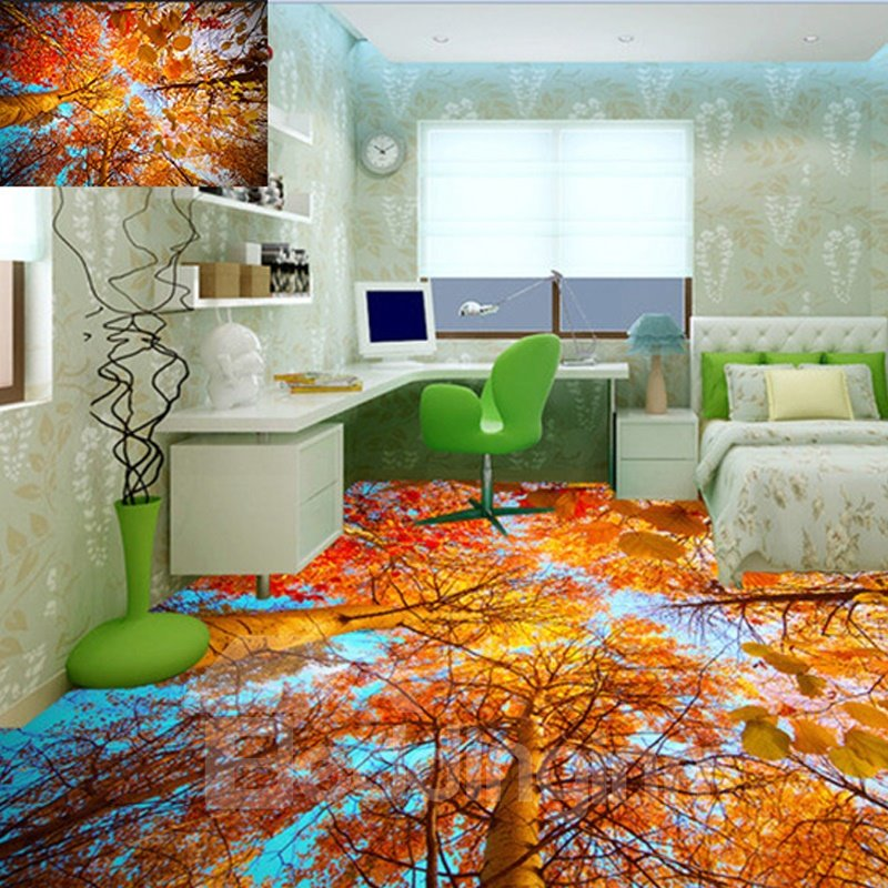 Personalized 3D Printed Waterproof Sturdy Non-slip Eco-friendly Floor Murals