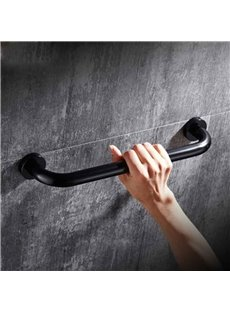 Black Space Aluminum Non-slip Drilling Installation Bath Tub Armrest