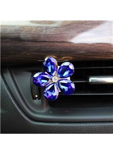 Multicolor For Choice Crystal Camellia Car Decor Balsam