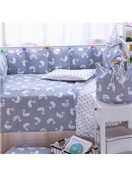 Cartoon Pattern Mulitcolor For Choice 9-Piece Baby Crib Duvet Covers/Bedding Sets