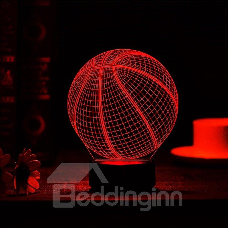 7 Colors Remote Control Basketball 3D Light LED Table Lamp Night Light/Lamp