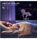 Color Changing Remote Control 3D Unicorn USB Night Table Lamp