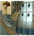 Blue Elegant Luxury Palace Style Shading Curtain