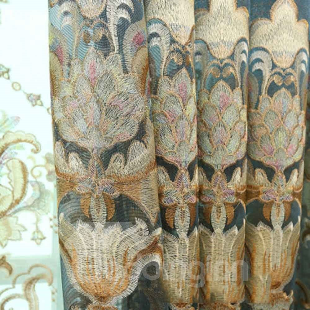 High Quality Gorgeous Pattern Palace Style Room Darkening Curtain