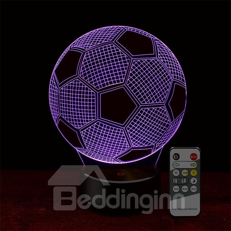 7 Colors Remote Control Football 3D Light LED Table Lamp Night Light/Lamp