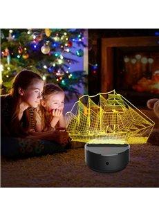 Funny Sailing 7 Colors Remote Control 3D Light LED Table Lamp Night Light/Lamp