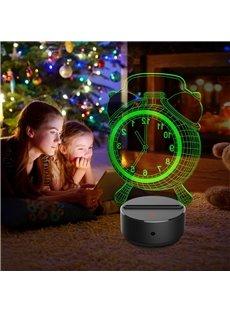 Creative Alarm Clock 3D Light LED Table Lamp Night Light/Lamp