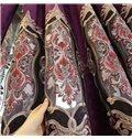 Biparting Open Chenille Royal Style Room Darkening Grommet Top Curtain