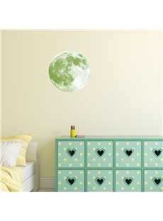 Luminous Moon And 28-Pieces Star Creative Kids Room Decor Waterproof Wall Sticker