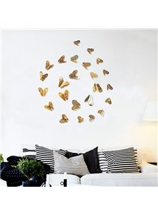 Beautiful Vivid Butterflies 36-Piece Kids Home Decor 3D Hollow Out Paper Wall Sticker