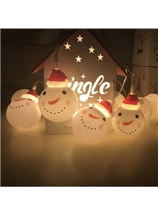 Christmas Snowman String Battery Holiday Decoration LED Lights