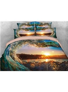 Water_Heartshaped_Sunset_Scenery_Printing_Polyester_3D_4Piece_Bedding_Sets_Duvet_Cover_Sets