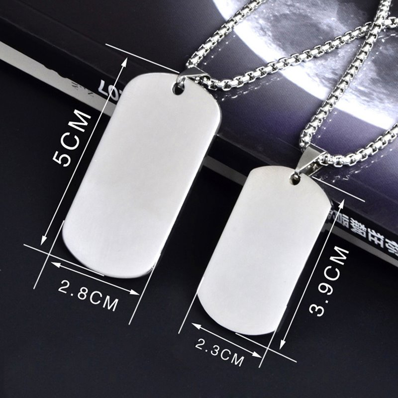 Personalized Titanium Steel Couple Identity Korean Style Necklace