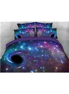 3D_Spiral_Purple_Galaxy_Printed_4Piece_Bedding_SetsDuvet_Covers