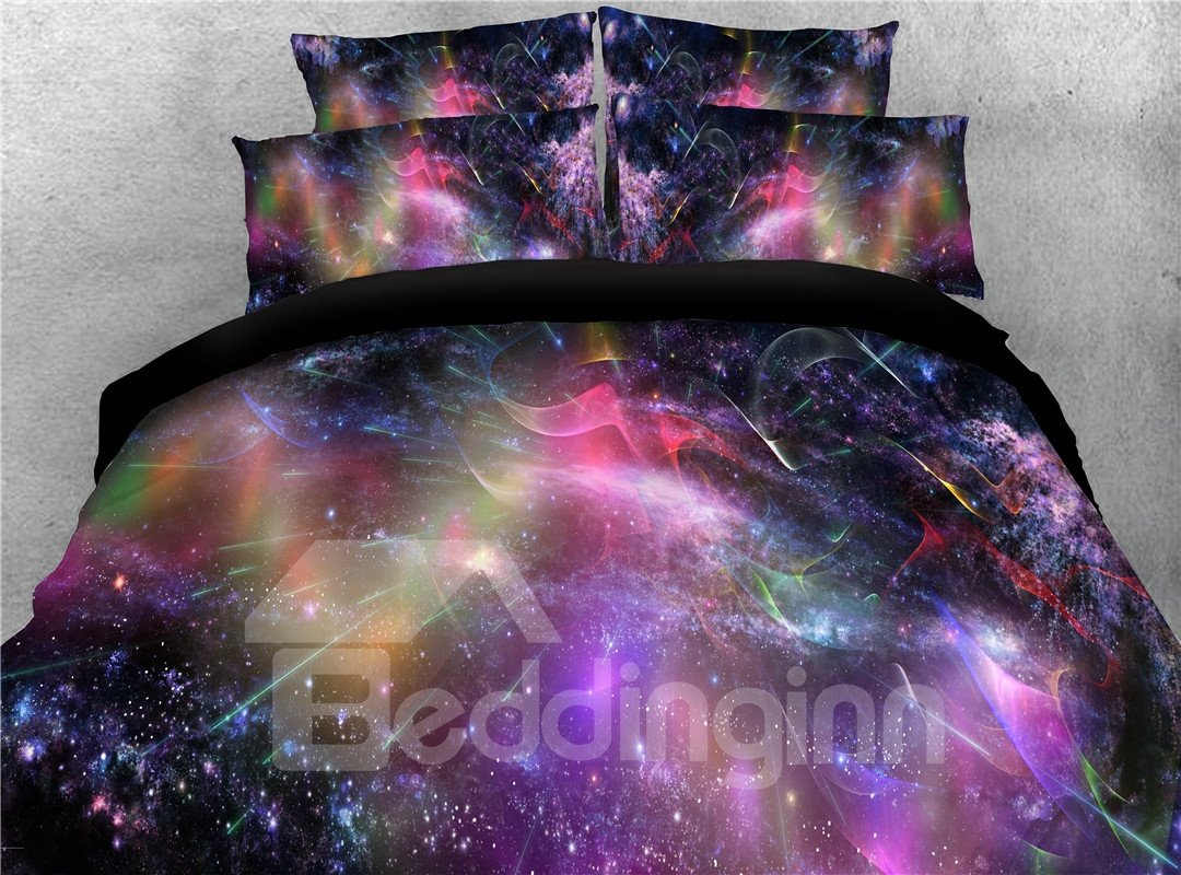 Colorful Dreamy Galaxy Printing 4-Piece 3D Bedding Sets/Duvet Covers