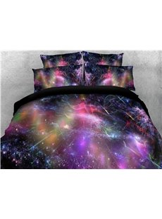 3D Colorful Dreamy Galaxy Printing 4-Piece Bedding Sets/Duvet Covers