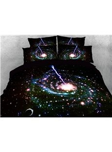 3D Shining Star Spiral Galaxy Printing 4-Piece Bedding Sets/Duvet Covers