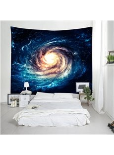 3D Whirlpool Galaxy Printed Decorative Hanging Wall Tapestry