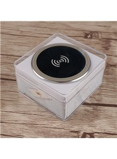 Wireless Acrylic Silver Round Convenient High Efficiency Phone Charger