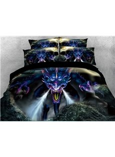 Powerful_Dragon_Digital_Printing_4Piece_Red_3D_Bedding_SetsDuvet_Covers