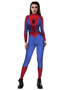 Skinny Halloween Stretch Cosplay Costume 3D Style Jumpsuit