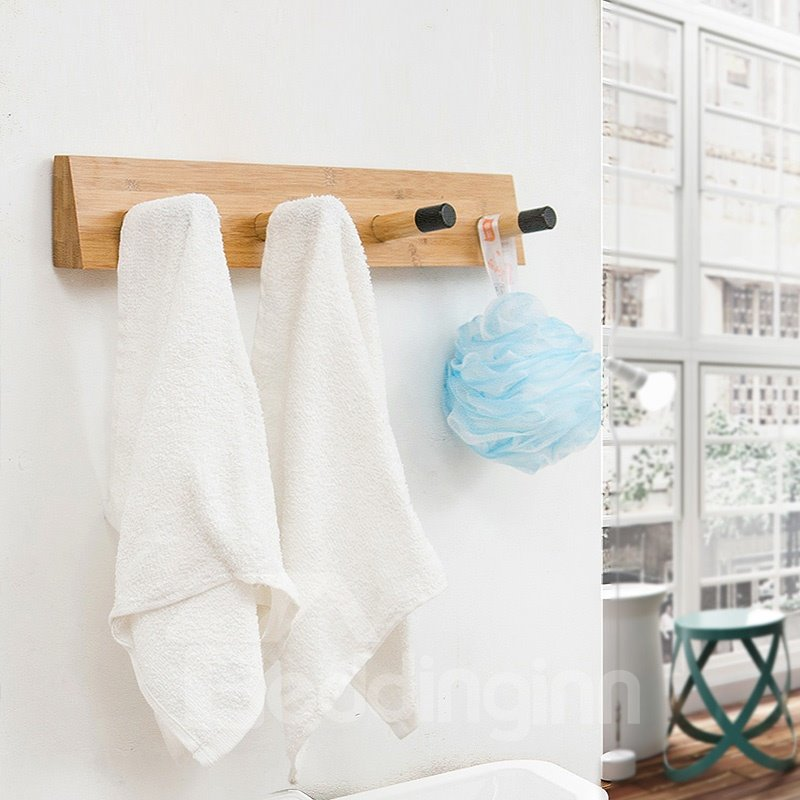 Delicate 4 Hooks 19 Inch Convenient Clothes Tree Wall Art Hook Decor