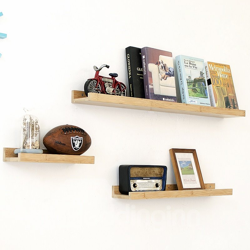 DIY Combination Classic Nordic Style Wood Material Storage Rack Wall Shelves