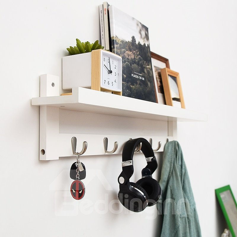 Wood Material Simple Style Multifunctional Decoration Holder Wall Shelves