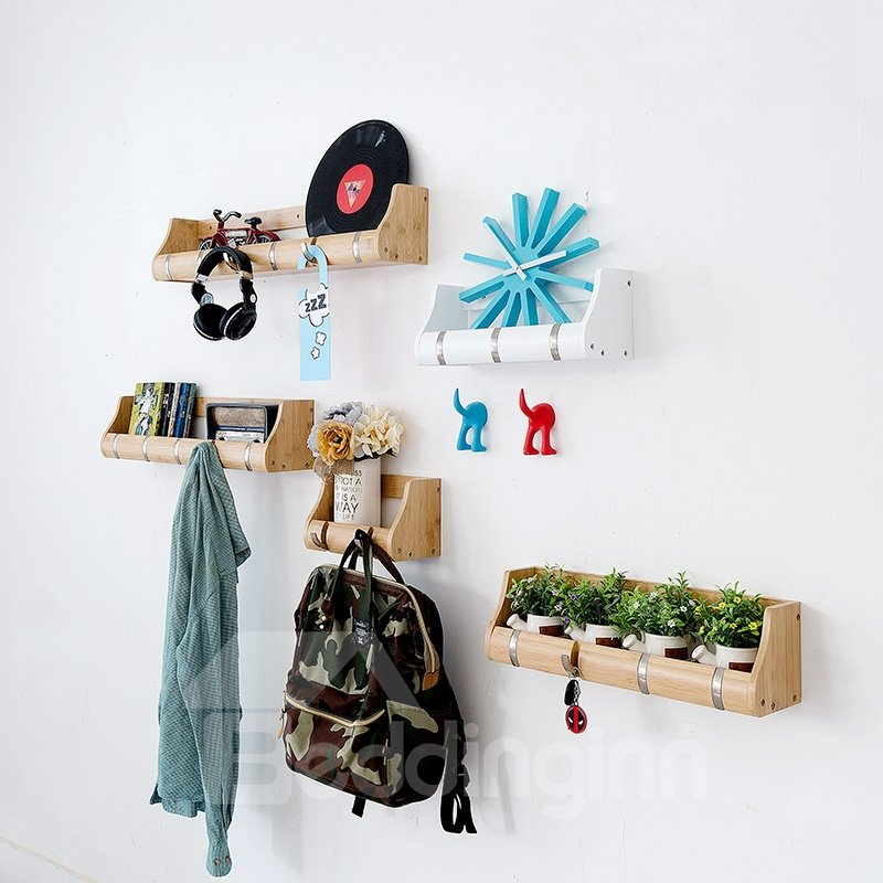 Classic DIY Combination Flowerpot and Decoration Holder Wall Shelves