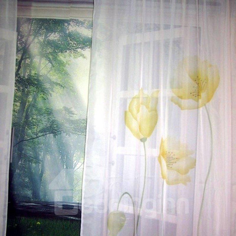 High Density Polyester Hammock Manual Printing Lily Sheer