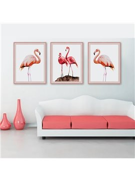 23.6x31.5in Canvas Material Flamingo Pattern Modern Simple Style Waterproof Hanging Wall Print