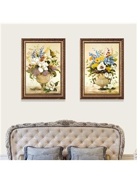 23*31in Waterproof And Eco-friendly Flower Pattern Classic Style Hanging Framed Prints