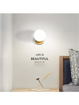 Northern Europe Post-Modern Style LED Glass Ball Wall Light
